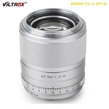 Viltrox 56mm f1.4 EF-M Large Aperture Autofocus Portrait Lens APS-C Prime for Canon Lens EOS M Cameras Lens M5 M10 M50 M100 M200