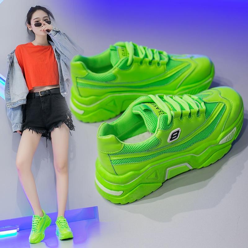 Womens Sneakers Shoes 2018 Fashion shoes Tennis Female Platform Woman 2019 Woman-shoes Women's Heels Designer Trainers Thick