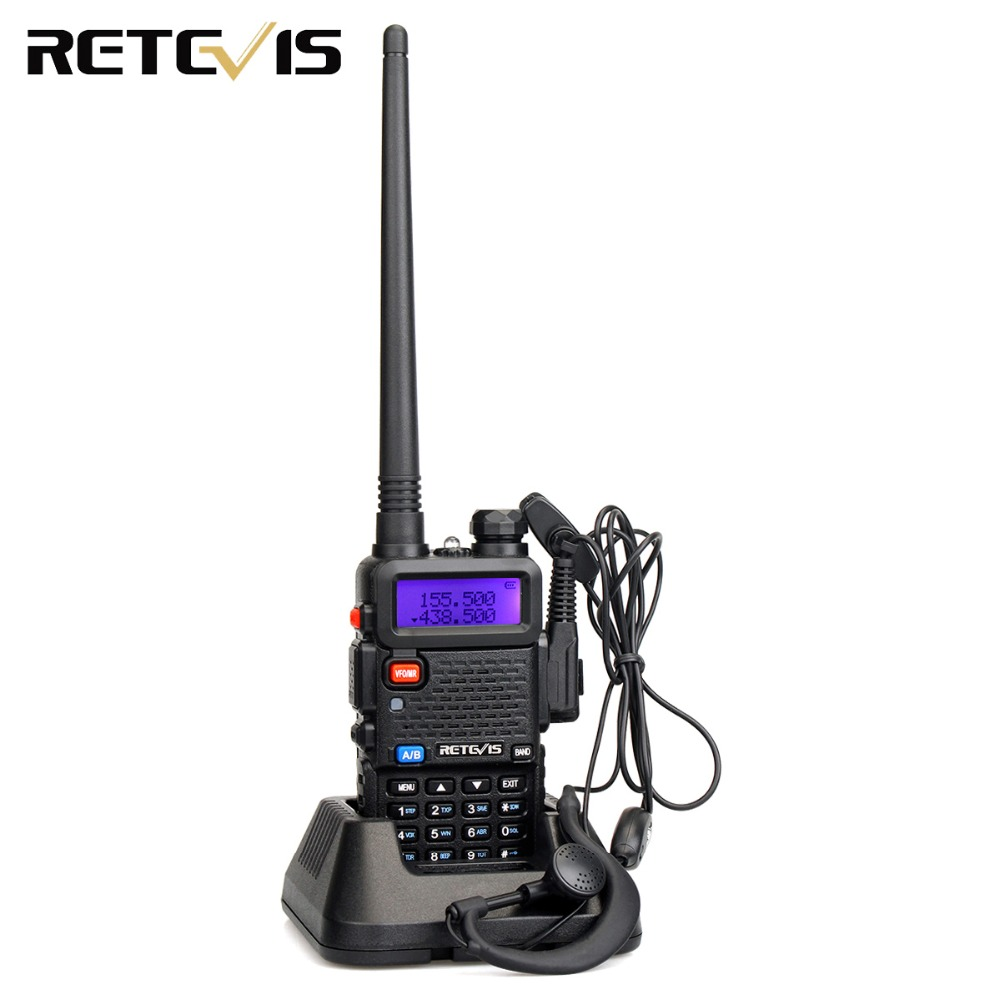 RETEVIS RT5R Handy Walkie Talkie 5W VHF UHF Ham Amateur Radio Station Two-way Radio Airsoft Game Walkie-Talkie For Baofeng UV-5R