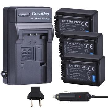3pc VW-VBT190 VW VBT190 Li-ion Battery+Car Charger for Panasonic HC-V110 HC-V130 HC-V160 HC-V180 HC-V201 HC-V210 HC-V230 HC-V250 фото