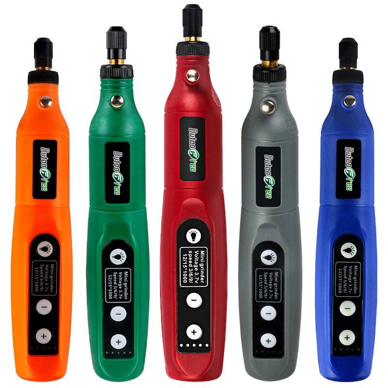 Беспроводная USB-ручка для гравировки, аккумуляторная мини-дрель, ручка со светодиодным вращающимся инструментом, электрическая дрель Dremel, а...