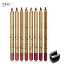IMAGIC 8 color Professional Multi-functional Lipliner Pencil Long Lasting Waterproof Lip Cosmetics Makeup Colorful Liner
