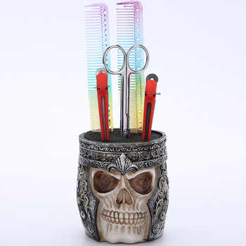 Skull Socket Retro Scissors Seat non-slip Hair Salon Scissors Storage Box Creative Stand Barbershop Hairdressing Tools G0905