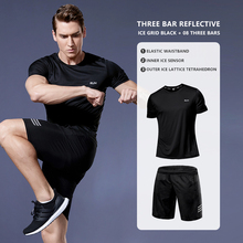 2 Pcs/Set Men's Tracksuit Compression Sports Wear for Gym Fitness Exercise Workout Tights Running Jogging Suits ropa deportiva