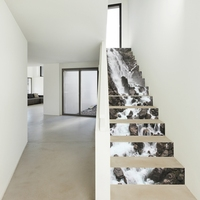 13 Pieces / Set Of 3D Stairs Stickers Waterproof Detachable Self Adhesive Wall Floor Decal Mural Stickers Home Decoration Landsc