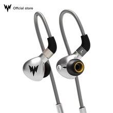 Whizzer A15 HiFi słuchawki basowe metalowe słuchawki douszne dynamiczne słuchawki douszne hi res ze złącze MMCX 3.5mm przewodowe słuchawki basowe