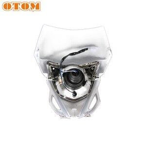 Image 5 - OTOM אופנוע פנס מוטוקרוס פנס קדמי מנורת עבור ימאהה WR450 אנדורו לכלוך אופני תאורה