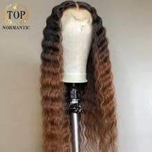Tonormantic ombre marrom cor 13x1 t parte do laço peruca de cabelo humano 100% remy cabelo humano afastamento preço não utilizado nova peruca