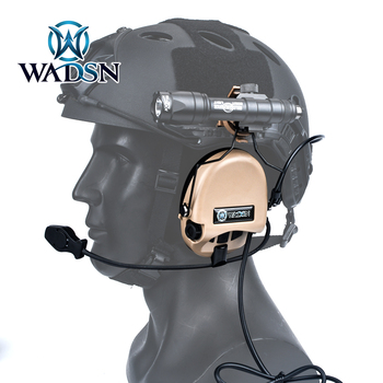 WADSN Tactical Sordin Headset Noise Canceling Shooting Military Airsoft CS Paintball Pickup Headphone with Helmet Rail Adapter цена 2017