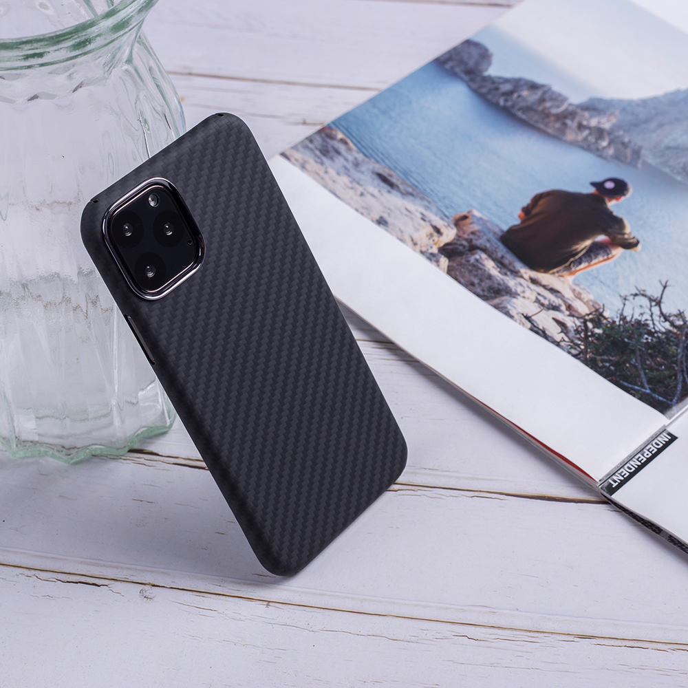 Ultra Thin Luxury Carbon Fiber Pattern For iPhone 11PRO Case Cover Full Protective Aramid Fiber Case For iPhone 11 11Pro Max