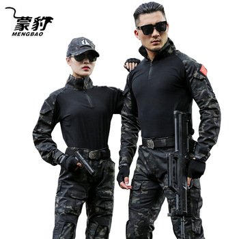 Military Uniform Tactical Camouflage Clothes Suit Men US Army Clothing Women Airsoft Military Combat Shirt Cargo Pants Knee Pads 1