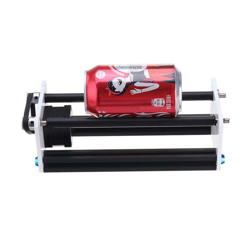 Rotate Engraving Module Lasing Engraver Machine Y Axis DIY Update Kit With Stepper Motor Wire For Column Cylinder Engraving