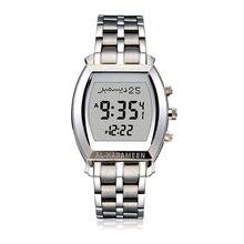 Muslim Watch with Azan Time Qibla and Hijri Calendar Islamic Wristwatch for Man Prayer Alarm Adhan Clock in English Arabic