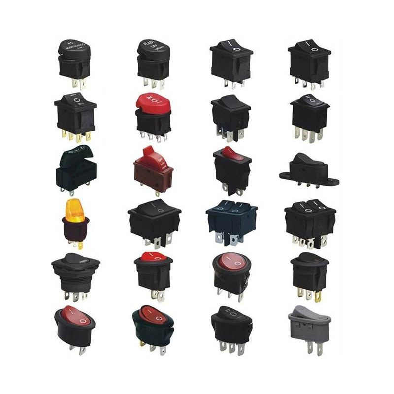 Produttori di R & D Personalizzabile Interruttore Tipo di Nave Asciugacapelli Due Tre Blocchi Cerchio Impermeabile Interruttore A Bilanciere Piatto Caldo Elettrico sw