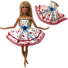 NK2020 Newest Doll Dress Beautiful Handmade Party ClothesTop Fashion Dress For Barbie Noble Doll Best Child Girls'Gift  253A 12X