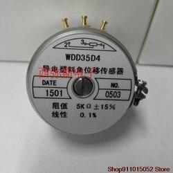 WDD35D-potenciómetro de plástico conductivo de precisión 4 WDD35D4 0.5% 1 k2k5k10k sensor de desplazamiento angular
