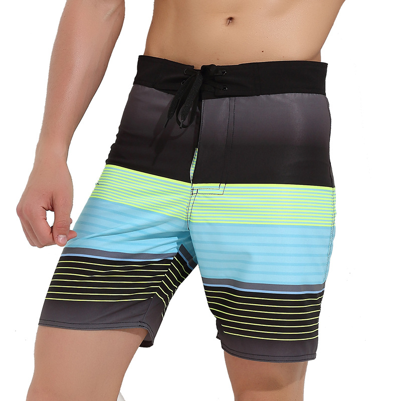 Sbart Quick-Dry Beach Shorts Loose And Plus-sized Elastic Mixed Colors Casual Sports Shorts Seaside Holiday Swimming Trunks