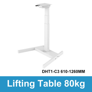Image 3 - Computer da tavolo di sollevamento elettrico per bambini da tavolo colonna di sollevamento gambe gambe mobili tavolo scrivania intelligente staffa di sollevamento regolabile in altezza