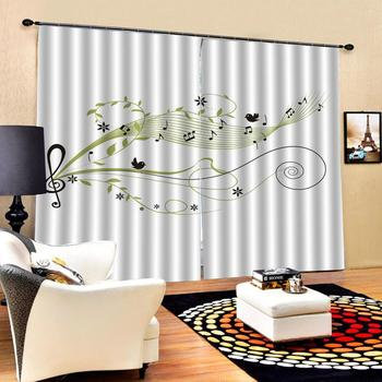 music curtains Customized size Luxury Blackout 3D Window Curtains For Living Room stereoscopic curtains