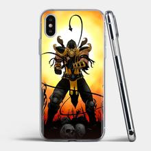 Scorpion Cartoon mortal kombat For Samsung Galaxy J1 J2 J3 J4 J5 J6 J7 J8 Plus 2018 Prime 2015 2016 2017 Soft Bag Case(China)