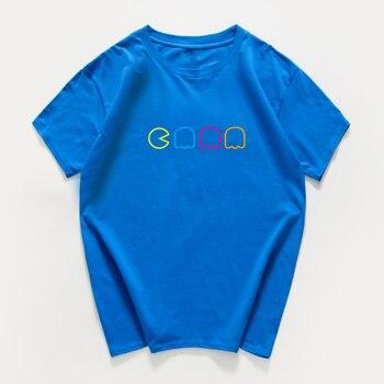 Pac-Man Video Game Sarcastic Novelty Men Funny T Shirt game fan 100% cotton loose streetwear hip-hop tshirt men summer harajuku 4