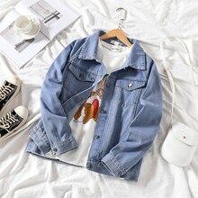 Mooirue Autumn Loose Jeans Coat For Women Long Sleeve Button Pockets Casual Streetwear Boyfriend Style Korean Tops Jaket