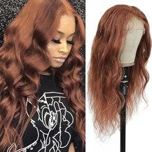 Bruin Auburn Lace Front Human Hair Pruiken Body Wave 13X4 Lace Pruiken Voor Zwarte Vrouwen Pre Geplukt Braziliaanse haar Pruiken Remy Pruik 150%