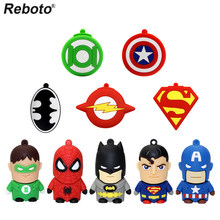Reboto güzel karikatür USB bellek sürücüler 64GB 32GB 16GB 8GB 4GB bellek USB sopa Pendrive sürgülü Flash bellek hediye için
