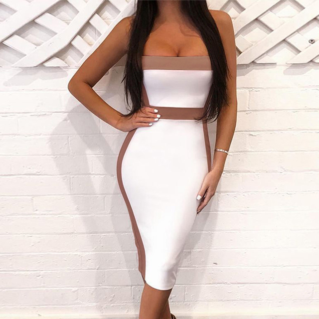 Seamyla Sexy Bandage Dresses Women 2020 New Sleeveless Celebrity Party Dress Elegant Bodycon Club Wear Summer Dress Vestidos