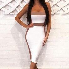 Seamyla seksowna z wiązaniami sukienki damskie 2020 nowa sukienka bez rękawów impreza celebrytów elegancka sukienka klubowa podkreślająca figurę letnia sukienka Vestidos