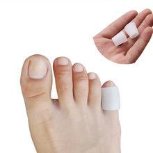 6 pçs/lote Tubo de Silicone Gel Pequeno Toe Calos Bolhas Protetor Joanete Gel Toe Corrector Pinkie Dedo Gel Proteção Manga