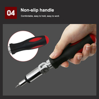 1/4 Inch Hex Mutilfunction Left Right 180 Degree Rotating Ratchet Screwdriver Drive Tackle Tool DC120|Screwdriver|   -