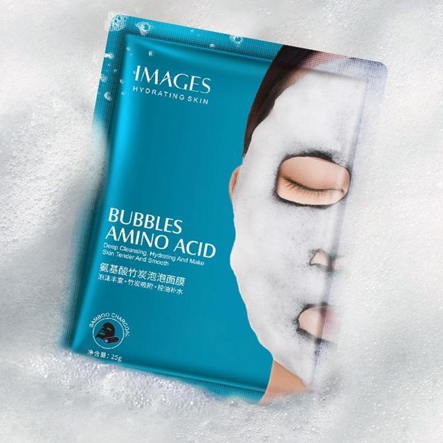 Oxygen Bubble Sheet Mask Korean Cosmetic Moisturizing Bamboo Charcoal Black Face Mask Whitening Skin Care High Quality 3