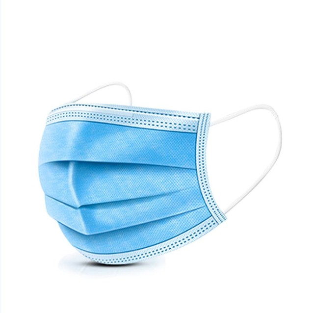 $ US $16.20 100pcs Blue Prevent Bacteria Mouth face Mask Disposable Non-Woven Three-layer Filter Unisex Anti-dust Mouth Nose Proof Masks