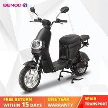 Benod moto elétrica para adulto bateria de lítio 25km/h motocicleta elétrica scooter motor ciclomotor ebicycle