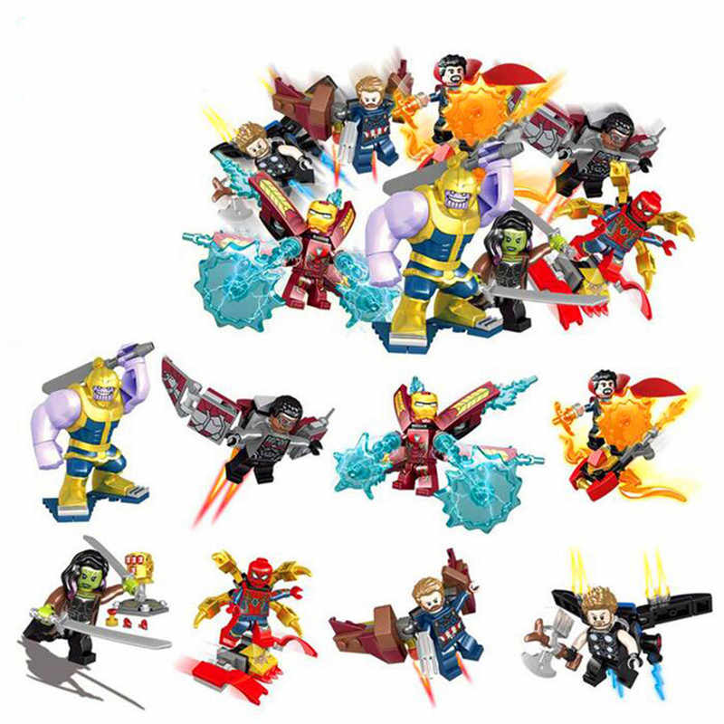 16 pçs/set Infinito Marvel Avenger Homem De Ferro Hulk Guerra Corvus Glaive Thanos Legoings Endgame Building Blocks Brinquedos Para Crianças Presente