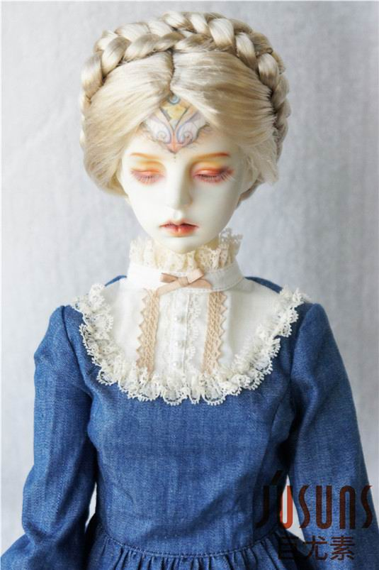 "6-7/"" Black Synthetic Mohair Short Wig Yo-SD BJD SD Doll"