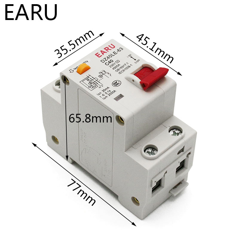 H1b780ea2ad2d4901b50e53a55ecb62b7r - DZ30L DZ40LE EPNL DPNL 230V 1P+N Residual Current Circuit Breaker With Over And Short Current  Leakage Protection RCBO MCB 6-63A