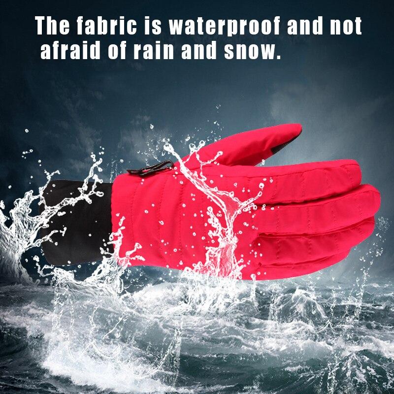 Зимние уличные спортивные лыжные перчатки женские водонепроницаемые теплые ветрозащитные зимние перчатки ASD88