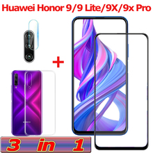 3-in-1 Tempered Glass for Huawei Honor 9 Lite 9X Pro Camera Honor-9-Lite Screen Protector Film X