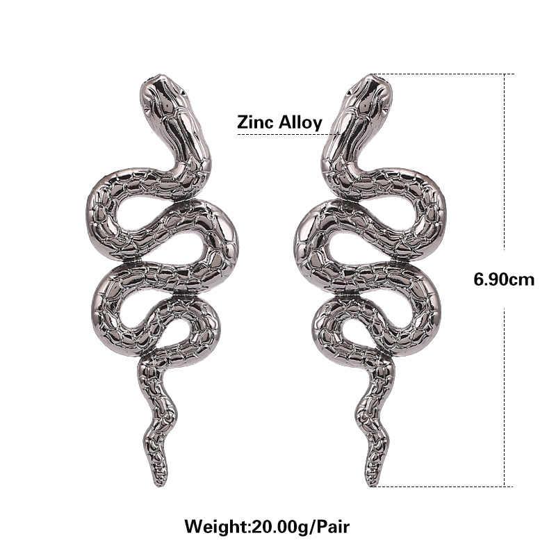 Erklärung Vintage Legierung Ohrringe Schlange Stud Ohrringe Für Mädchen Damen Party Geschenke Minimalistischen Hochzeit Braut Ohrringe Schmuck