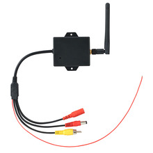 ケーブル耐久性のある簡単インストールリアビューカメラモジュール車のdc 12vワイヤレス逆転カメラトランスミッタav wifi駐車信号システム