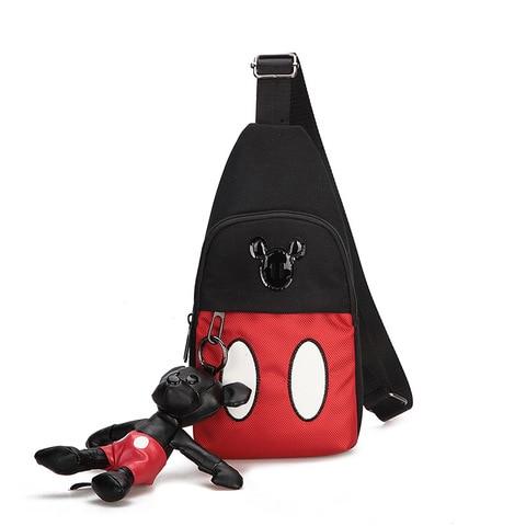 Menina dos Desenhos Bolsa de Armazenamento de Viagem Bolsa de Ombro Disney Novo Mickey Minnie Mouse Crianças Mini Bolsa Menino Animados Boneca Bagmessenger