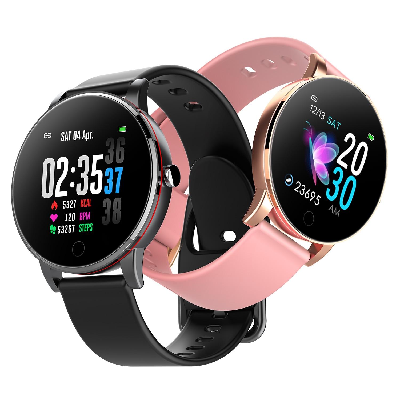 Y9 montre intelligente Ip68 étanche mince corps en métal bracelet milanais remplaçable moniteur de fréquence cardiaque tension artérielle Smartwatch hommes