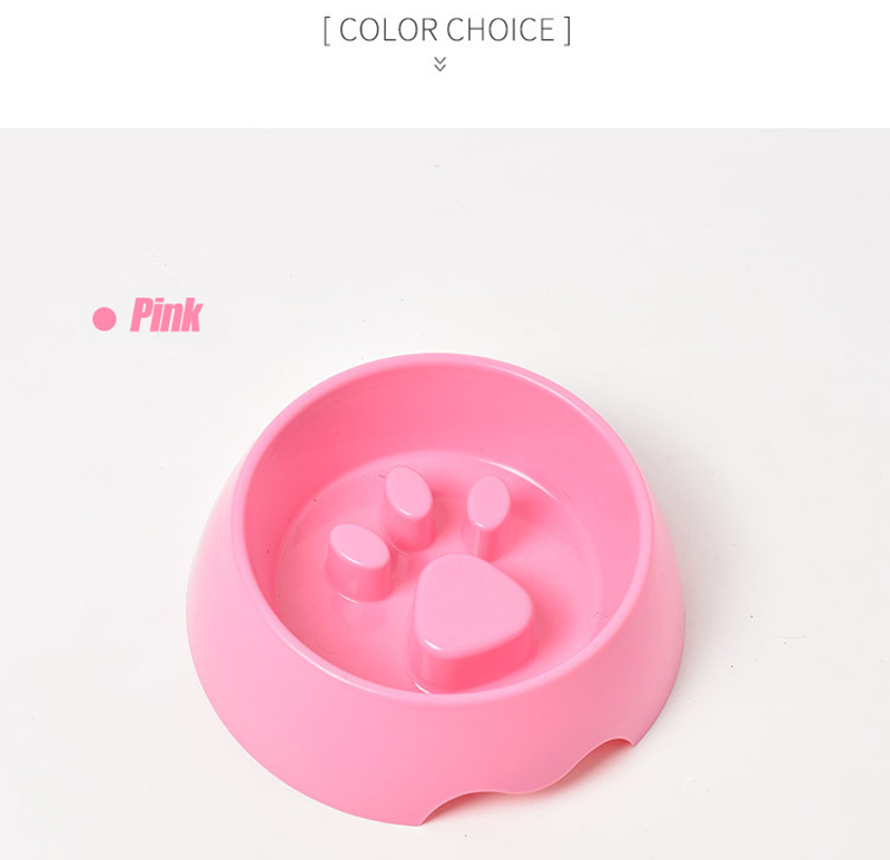 Cute Paw Dog Bowl Plastic Anti Choke Slow Feeder Pet Food Bowls For Cat Water Drinking Products For Dogs Silicone Container 10