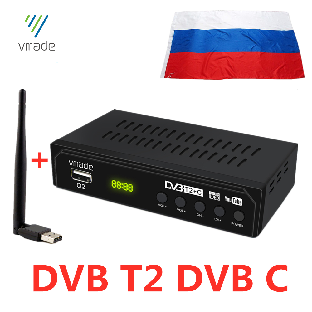 Sintonizador de TV de DVB-T2 ruso, DVB T2, Receptor de TV Digital, dvb c, Wifi, DVBT2, DVB-C, HEVC