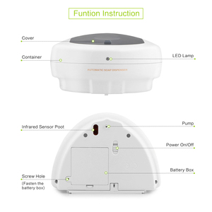 Image 3 - 450 ミリリットル自動ソープディスペンサーハンドフリーセンサーシャワーシャンプー液体石鹸ローションボックスウォールマウント石鹸容器