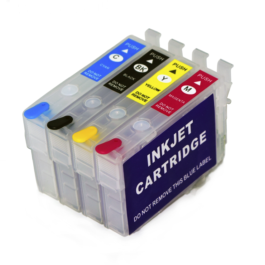 Empty Refill Ink Cartridge No Chip For Epson WorkForce WF-2861 WF-2810 WF-2830 WF-2835 WF-2860 WF-2850 WF-2865 Printer