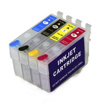 Pusty napełniania pojemnika z tuszem nie chipem do Epson siły roboczej WF-2861 WF-2810 WF-2830 WF-2835 WF-2860 WF-2850 WF-2865 drukarki tanie i dobre opinie boma ltd wf2861 wf2830 wf2850 wf2860 Kompatybilny Wkład atramentowy Empty Refill ink cartridge without chip 4Color-K C M Y