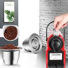 Kapsułka łącząca do wielokrotnego użytku kapsułki wielokrotnego napełniania Nespresso Inox Crema Espress wielokrotnego użytku wielokrotnego napełniania do Nespresso tanie tanio i Cafilas Z tworzywa sztucznego Wielokrotnego użytku Filtry Reusable Coffee Capsule Sliver Stainless Steel 350ml Nespresso capsule